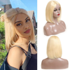 Cranberry Short Bob Lace closure Wigs Straight 613 Blonde Brazilian Human Hair Wigs