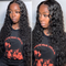 Cranberry  4x4Inch Lace Closure Human Hair Wigs Water Wave Remy Malaysian Hair Wigs Natural Color