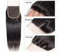 Cranberry Silky Straight Hair Weave 3pcs Human Hair Bundles With Lace Closure Remy Brazilian Hair