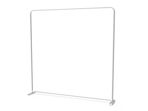8ft Straight Tension Fabric Display - Campus Ink