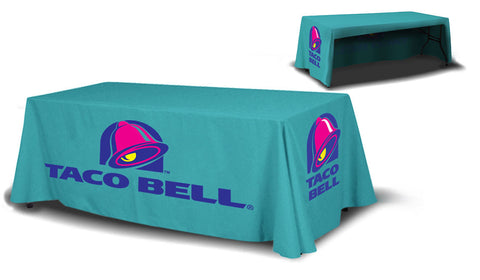 8ft Table Cover 3 sided (Open Back) - Campus Ink