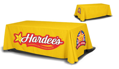 8ft Table Cover 4 sided (Close Back) - Campus Ink
