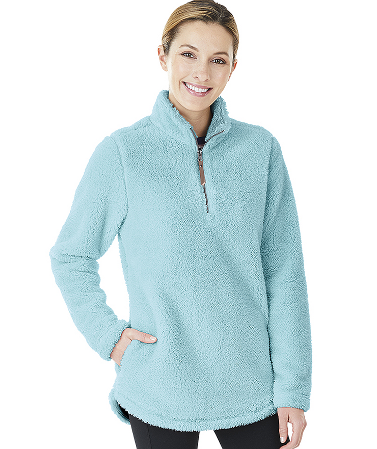 Charles River Woman's Newport Fleece Pullover - Campus Ink