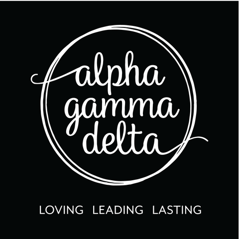 Alpha Gamma Delta Circle Script Design - Campus Ink