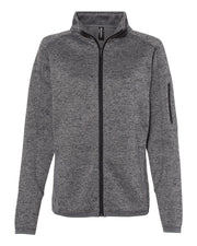 Burnside Women's Sweater Knit Jacket - Campus Ink