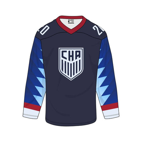 CUSTOM CLOSED HOCKEY JERSEY - SUBLIMATED