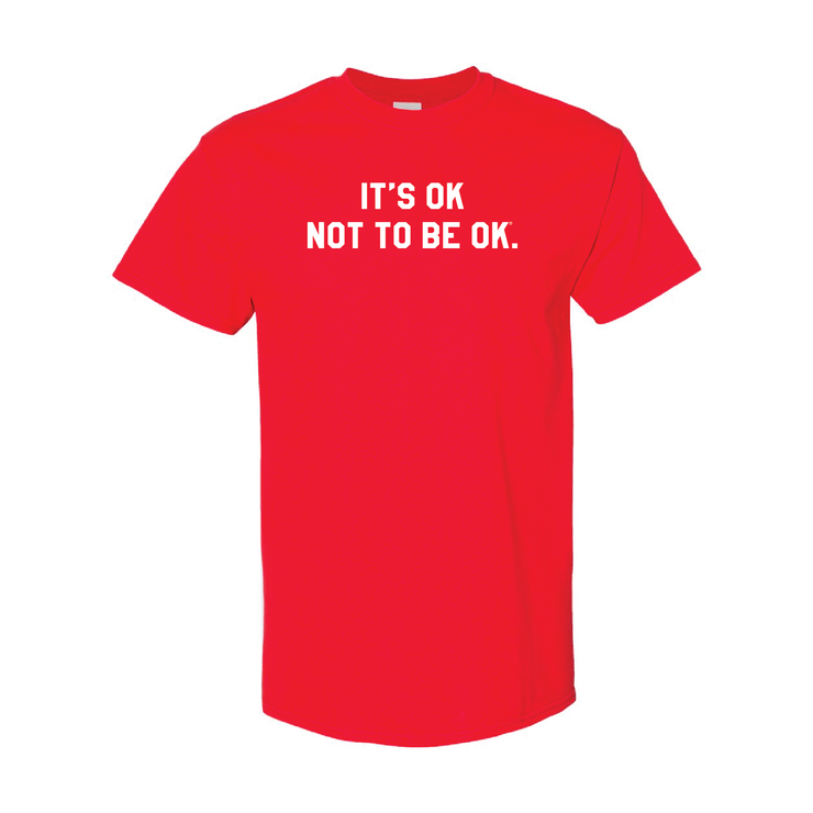It's Okay® Red College Tee