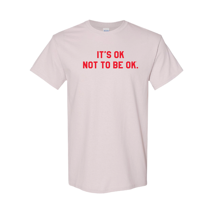 It's Ok® Grey & Red College Tee