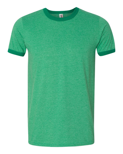 Anvil - Lightweight Ringer T-Shirt - Campus Ink