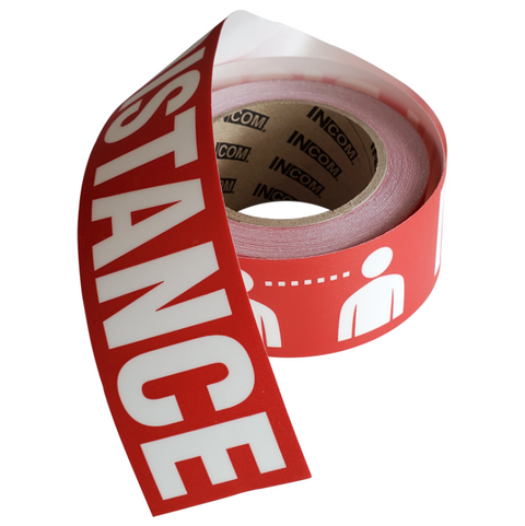 Maintain Distance Floor Marking Tape - Campus Ink