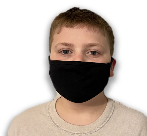 Youth Fabric Mask (3-Pack) - Campus Ink