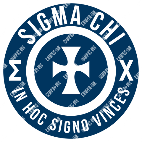 Sigma Chi Circle Logo Design - Campus Ink