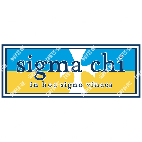 Sigma Chi Flag Banner Design - Campus Ink