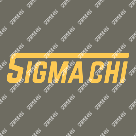 Sigma Chi Futuristic Word Design - Campus Ink