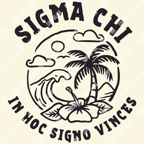 Sigma Chi Aloha Design - Campus Ink