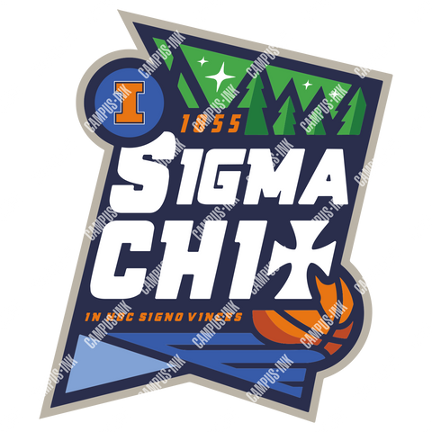 Sigma Chi Basketball Tournament Design - Campus Ink