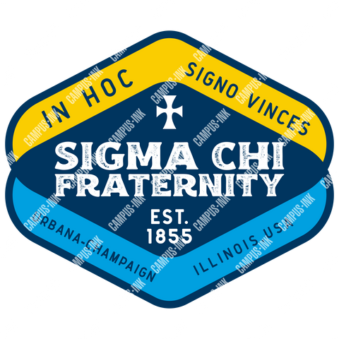 Sigma Chi Diamond Design - Campus Ink