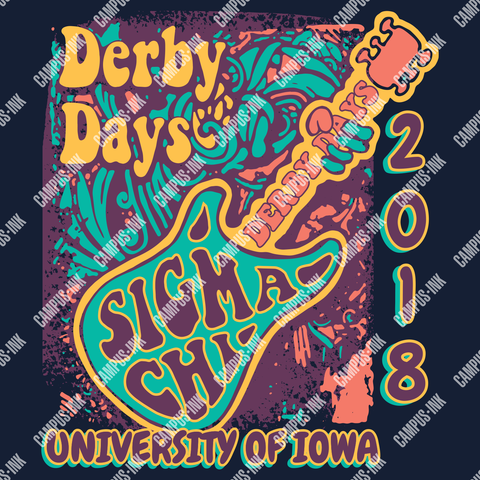 Sigma Chi Funky Jam Band Design - Campus Ink