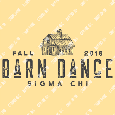 Sigma Chi Barn Text Design - Campus Ink