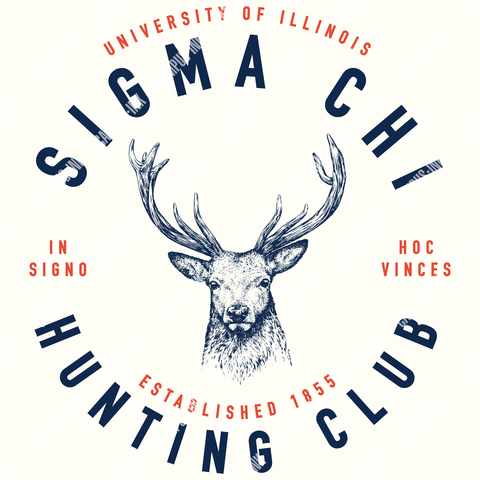 Sigma Chi Hunting Club Deer Design - Campus Ink