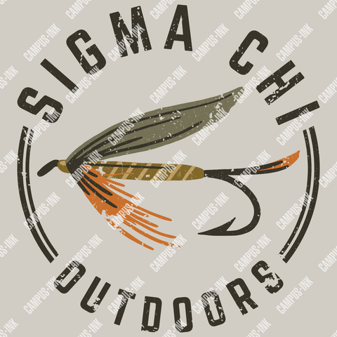 Sigma Chi Fishing Design - Campus Ink