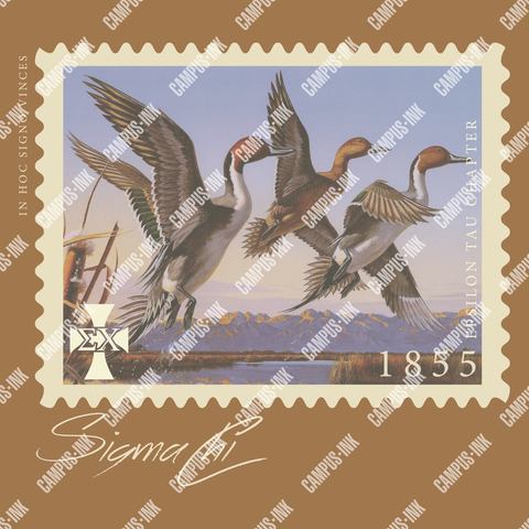Sigma Chi Duck Stamp Design - Campus Ink