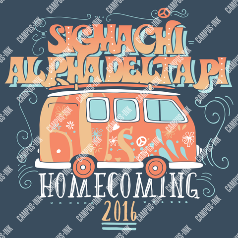 Sigma Chi Hippie Van Design - Campus Ink