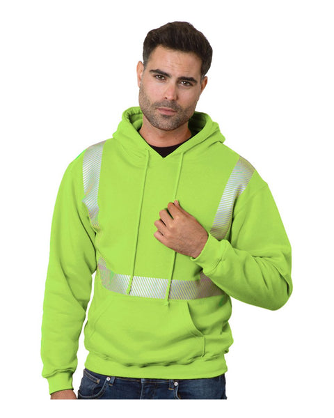 USA-Made High Visibility Hooded Pullover - Campus Ink