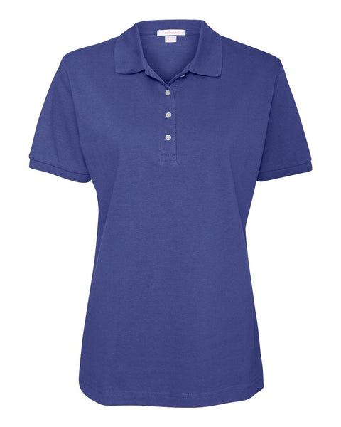 Women's 100% Cotton Pique Sport Shirt - Campus Ink