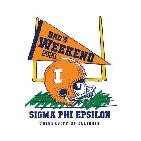 Vintage Football Dads Weekend Design - Campus Ink
