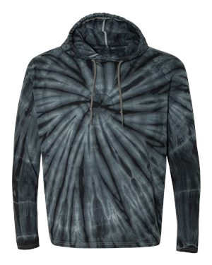 Dyenomite - Tie-Dyed Hooded Pullover T-Shirt - Black