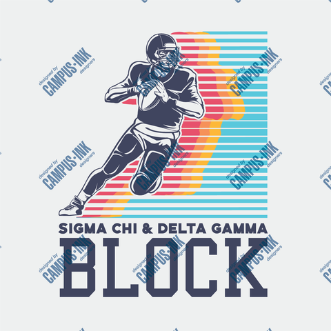 Sigma Chi Football Design - Campus Ink