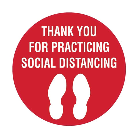 Thank You For Social Distancing Floor Decal - Campus Ink