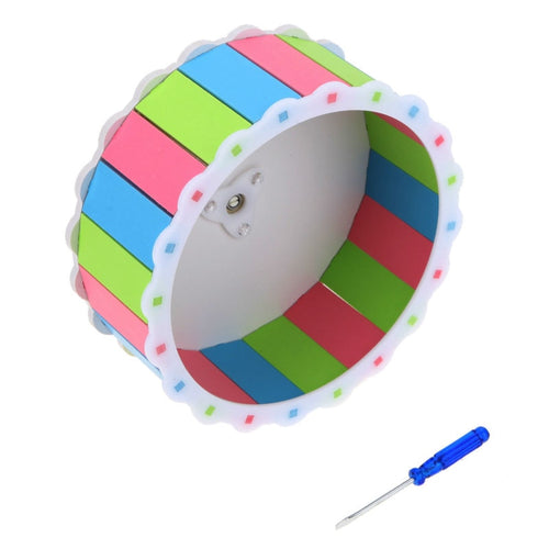 Silent Small Pet Plastic Wheel Toy Colorful Cage Accessories