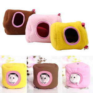 Cute Small Animal  bed  winter warm hanging House cage  accessory S L