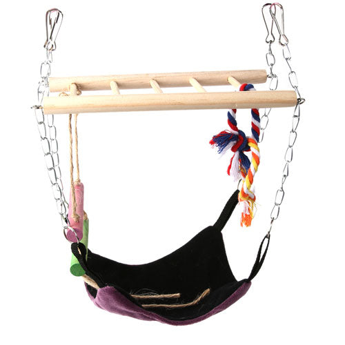 Small Animal Pet Hammock Suspension Bridge with  Hanging Ladder Climbing Toy