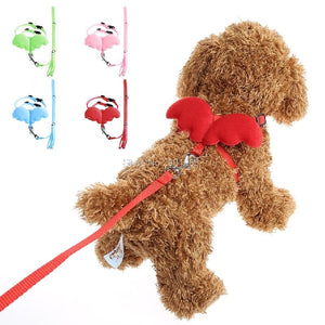 3Sizes Adjustable Angle Wing  Harness Leash Lead Strap Nylon Cute