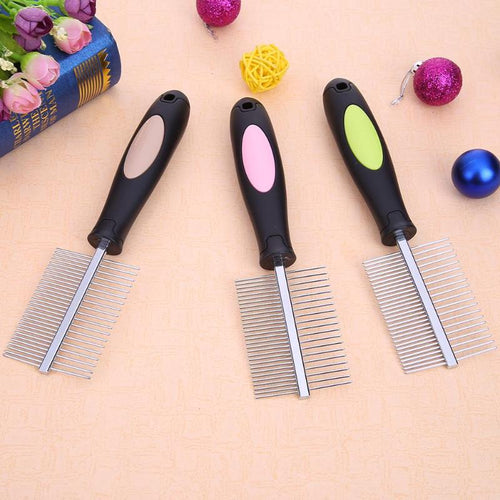 Double Row  Comb Stainless Steel  Pet Quick Clean Tool