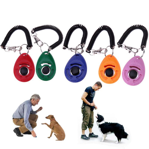 Pet  Clicker Adjustable Sound Key Chain  Clicker Pet Training
