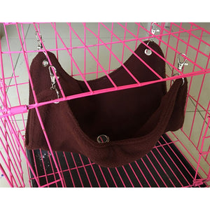Pet Hanging Bed Warm Plush Cloth Hammock Cage Accessories Pet Toys S M L
