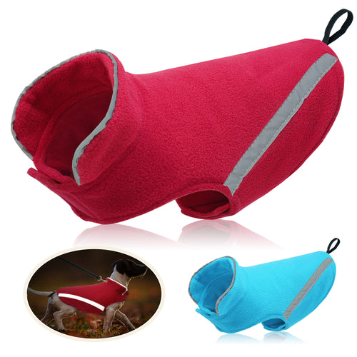 Dog Clothes for Large Dogs Fleece Pet Clothing Jacket Chihuahua Pug Clothes French Bulldog Coat Reflective for Small Dogs