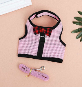 Vest Harness With Leash Mesh Chest Strap S/M/L