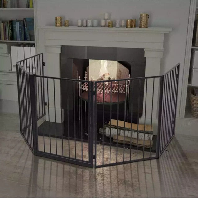 Pet Fireplace Fence  High-Quality Steel Construction
