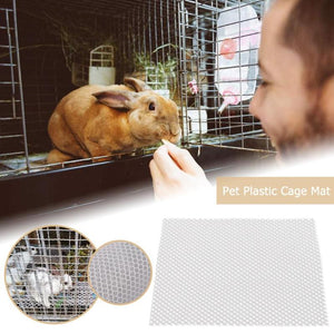 Plastic Pet Cage Mat Hamster Rabbit Cage Grids Holes Anti-slip Feet Pads for Small Pets Animal Cage Accessories