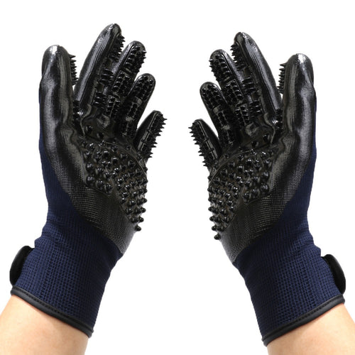 1 Pair Multifunctional Massage Bathing Hair Remover Brush Grooming Gloves