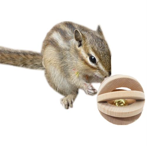 New 7CM Wooden Bell Ball Small Animal Toy