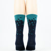 """Doña Pan"" Men's and Women's 6"" high, compression, cycling socks."