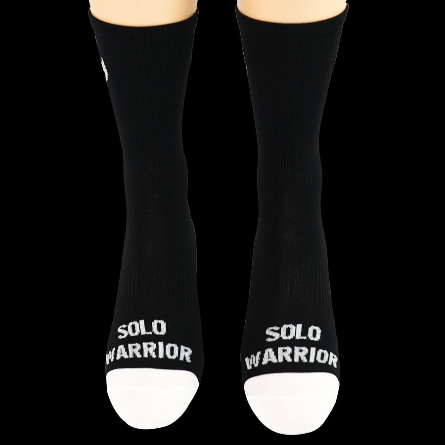 "6"" Men's and Women's, Solid Black, Compression, Cycling socks."