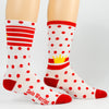 "NEW KOM/QOM WHITE/RED 6"" Men's & Women's cycling socks with compression."