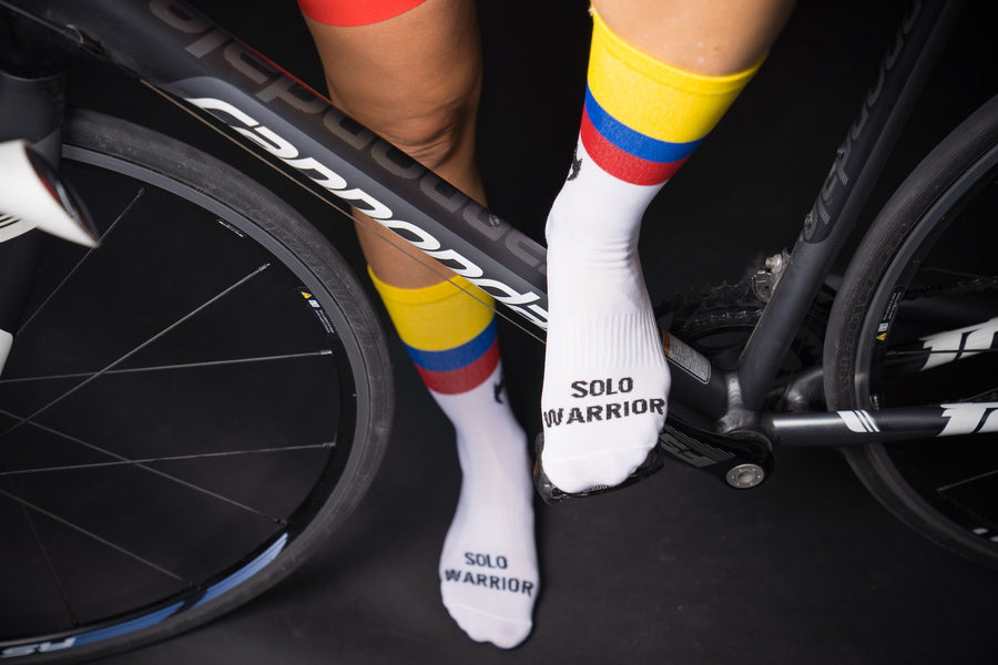 "The Colombian Warrior 6"" Men's & Women's cycling sock with compression"